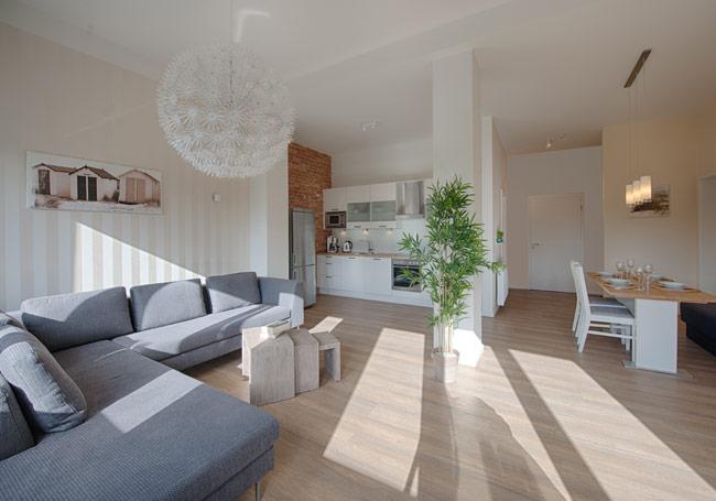 wohnzimmer - ferienwohnung gracia in der villa patricia auf borkum, Wohnzimmer